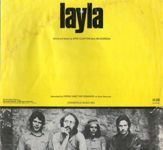 Layla, from the album 'Layla and other assorted love songs' by Derek and the Dominos, recorded in December, 1970.