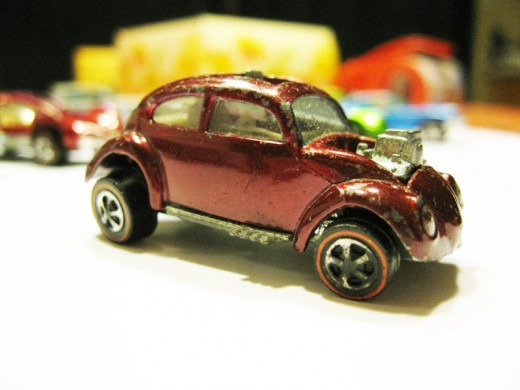 A 1968 original Volkswagen Beetle - well played with and retired from action.