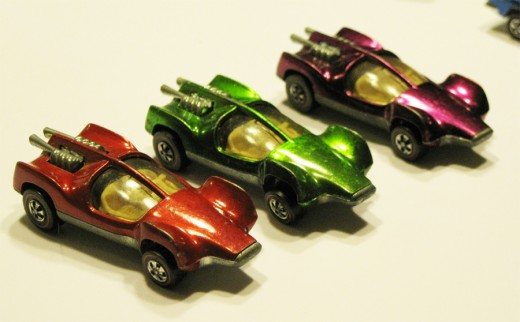 Three colorful Mantis cars  from 1969.