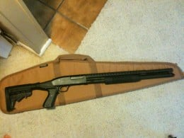 Mossberg 500 Persuader Tactical (tactical light removed for firing)