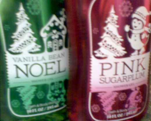 Vanilla Bean Noel and Pink Sugarplum shower gels - Holiday 2011