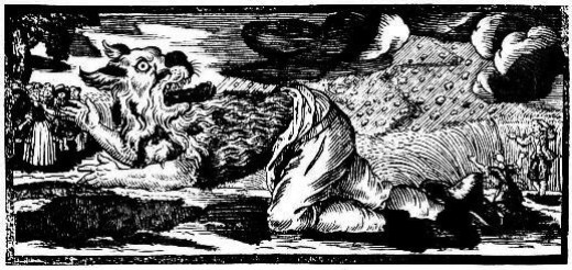 German werewolf woodcut, c. 1722
