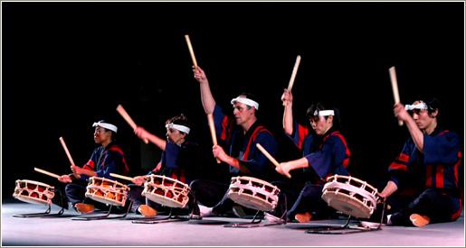 An example of a simple taiko ensemble