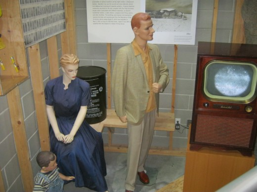 """Some examples of the """"mannequins"""" that were used to find out what the effects of the nuclear bombs would be IF they had gone off near people's homes."""