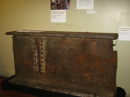 A steel beam from the World Trade Center, in the newest part of the museum, this was fascinating to see.