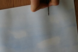 Add detailing, however much or little you like once the paper is try enough to make the paint not run.