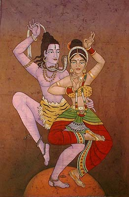 Shakti and Shiva dancing