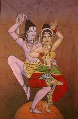 Shakti and Shiva dancing