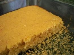 Flax seed cornbread--surprise!