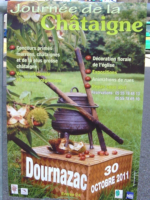 30th October Chestnut day at Dournazac