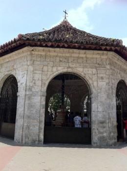 The historic Magellan's cross in Cebu. Landmark of the Filipino's birth to Christianity