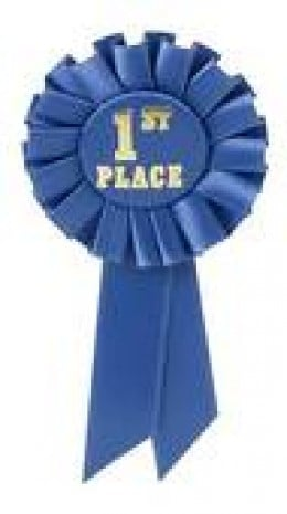 The majestic blue ribbon. Not beer, but the blue ribbon given for the BEST, not last place in competiton.