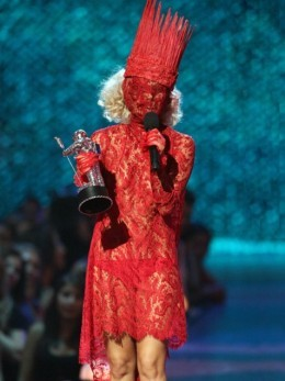 Lady Gaga has an unusual fashion sense that she attributes to David Bowe and a large influence from her mother.