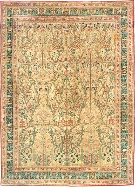 Antique Tabriz rug #3247