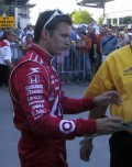 Dan Wheldon Dies At Age 33,                               At The Las Vegas Indy 300, Oct. 16, 2011