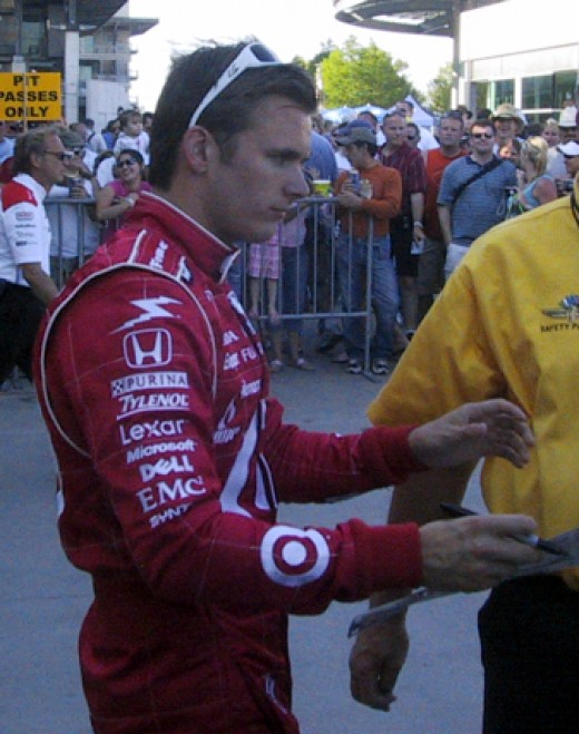 Wheldon at the Indy 500, in 2007