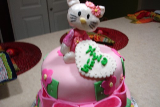 Hello kitty fondant cake figure.