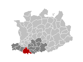 Map location of Mechelen, in Antwerp province