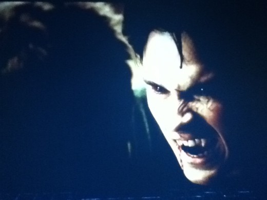 Damon lets his inner vamp loose on Caroline's father.