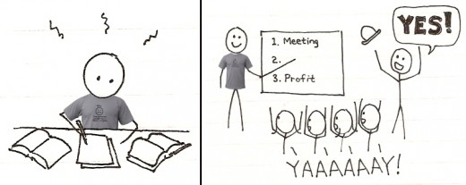 t shirt stickman successful meeting