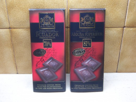 1. Good quality dark chocolate, I prefer to use the 81% cocoa. It gives a richer taste.