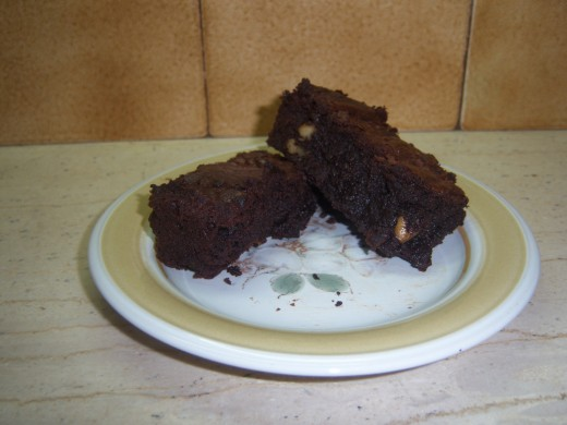 14. Rich dark chocolatey, gooey, wrap round the teeth brownies. All ready to eat.