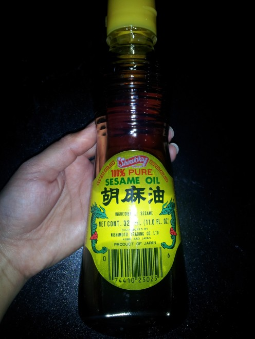 this is the brand of sesame oil I use. it's got a roasted, bold flavor so a little goes a long way