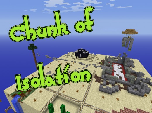 Chunk of Isolation, a post - apocalyptic minecraft survival map.