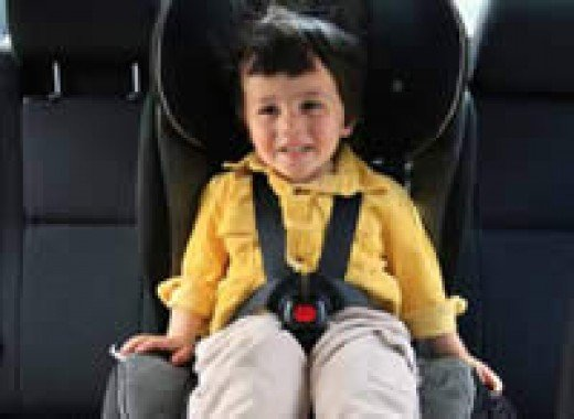 •Children aged four years to under seven years must be secured in forward facing child restraint or booster seat.
