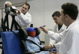 Childs car seats are tested so they meet safety standards.