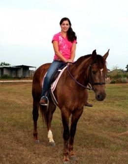 Photo by Brandi Jessen Zero is shown here under saddle.
