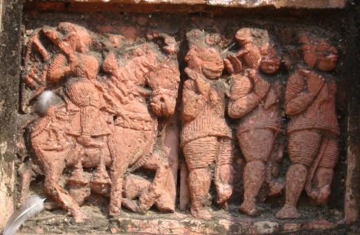 Exquisite terracotta work in Damodar temple 3