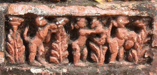 Exquisite terracotta work in Damodar temple 5