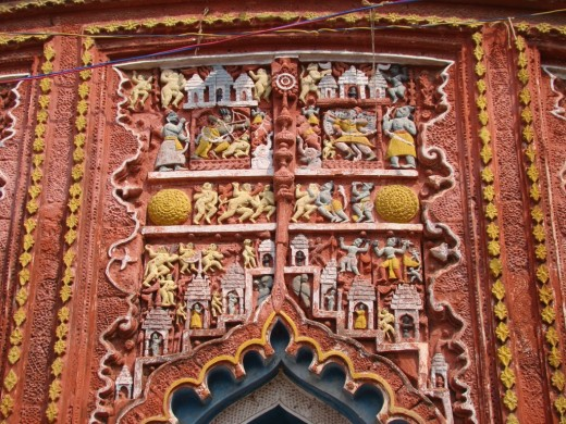 Exquisite terracotta work in Damodar temple 12