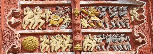 Exquisite terracotta work in Damodar temple 14
