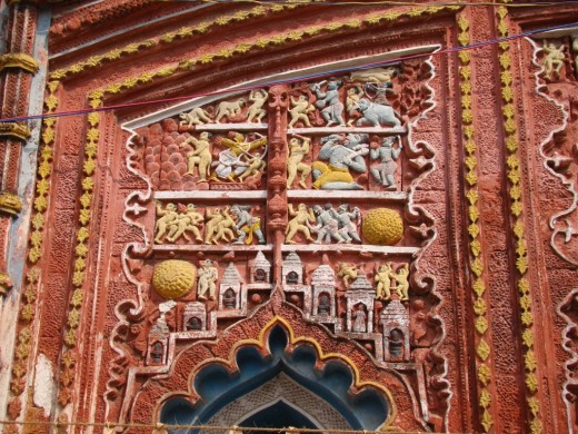 Exquisite terracotta work in Damodar temple 18