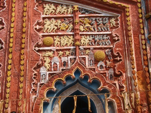 Exquisite terracotta work in Damodar temple 19