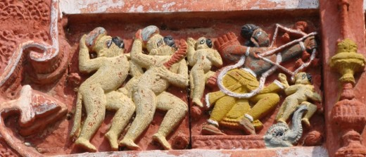 Exquisite terracotta work in Damodar temple 23