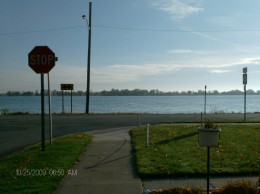 View of the Saint Clair River and Canada