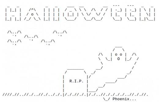 Happy halloween ascii text art for Ascii text decoration