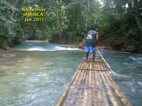 JAMAICA, Rafting on the white river .
