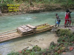 JAMAICA,  Rafting on the white river.