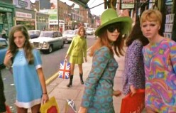 Carnaby Street in the late 1960s