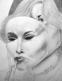 "Original Works- Graphite ""I can fake it darling""  By Catherine Welborn"