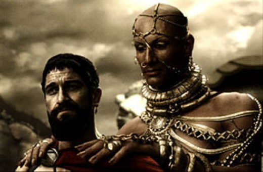 Leonidas of Sparta and Xerxes of Persia