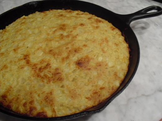 Skillet Cornbread with Corn