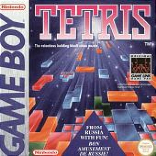 The packaging for Tetris on the Nintendo gameboy