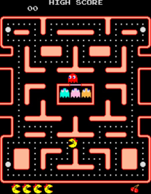 The rather more pink Ms Pac-Man