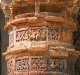 Terracotta of Raj Rajeswari temple : A decorated pillar