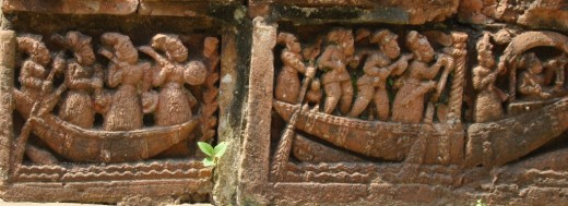 Terracotta of Raj Rajeswari temple :Boat ride 1